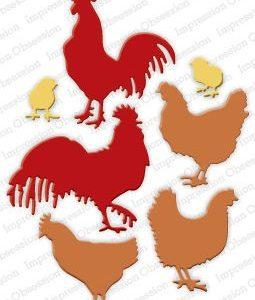 Roosters & Chickens Die Set
