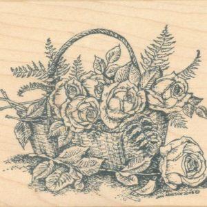 Rose Basket with Ferns