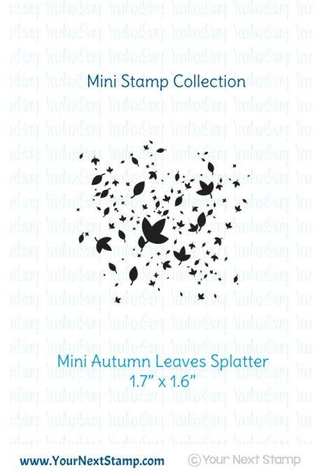 Autumn Leaves Ink Splatter - Mini