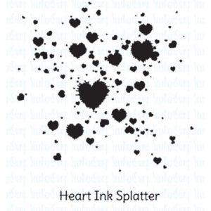Heart Ink Splatter
