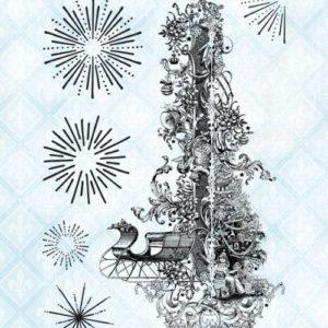 Christmast Collage Stamp Set