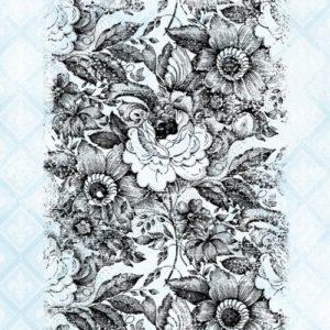 Floral Grunge Stamp Set