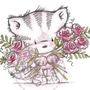 Elsie with Roses
