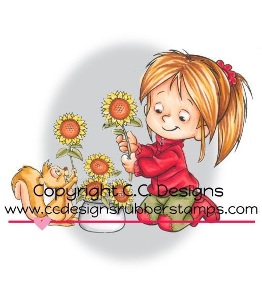 Nancy with Sunflowers