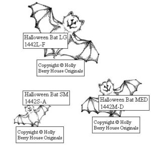 Halloween Bat, Set of 3