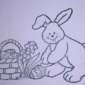Bunny with Easter Basket
