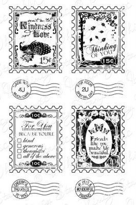 Postage Stamp Sentiments