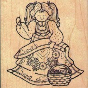 Girl Stitching