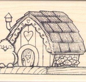 Lg. Shingled Birdhouse