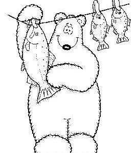Polar Bear and Washing Line NEU