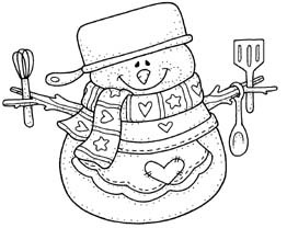 Snowy with Cooking Utensils
