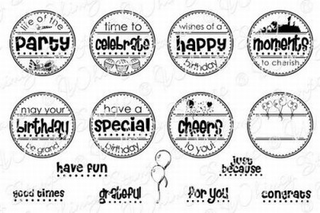 Party Mini Letter Seals