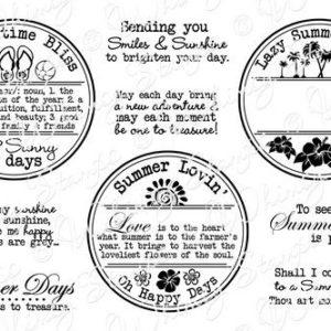 Summer Letter Seals