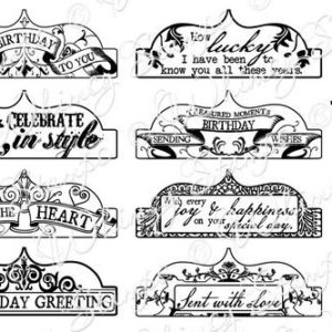 Vintage Birthday Tabs 1