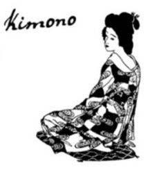 """ATC-Set: sitzende Geisha / """"Kimono"""""""