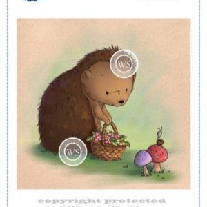 Hedgehog with Basket