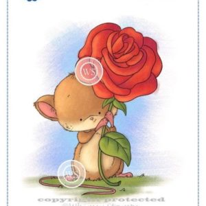 Mouse with Rose