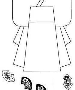 Kimono mit Musterstempeln