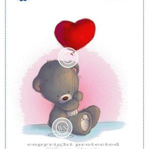 Teddy with Heart Balloon