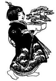 Kind mit Bonsai