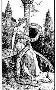 Prinzessin mit Schlange