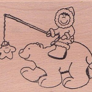Eskimo mit Eisbär