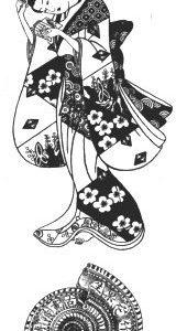 Set: Geisha / Schneckenhaus / Ornament