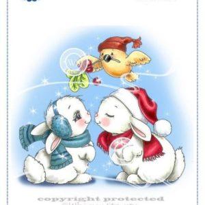 Christmas Bunny Kisses