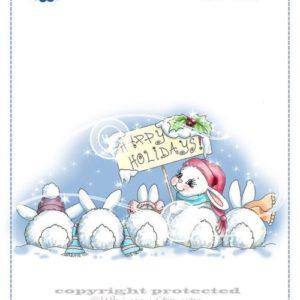 Christmas Bunny Row