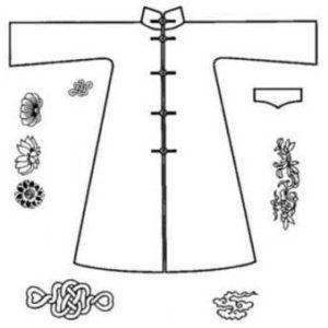 Set: Mantel und Ornamente