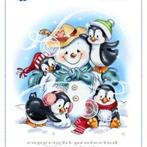 Penguins Build a Snowman