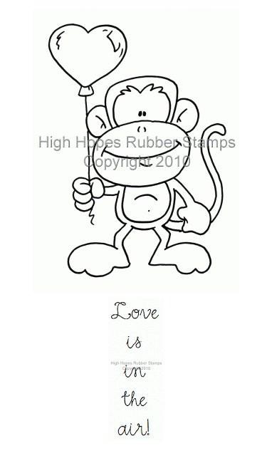 Myron Monkey's Heart Balloon Set *NEU*