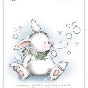 Bunny Blows Bubbles