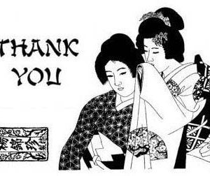 Set: Thank You Geishas