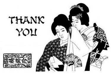 Set: Thank You Geishas