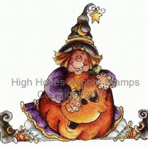 Sitting Witchypoo with Pumpkin