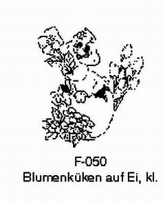 Blumenküken auf Ei