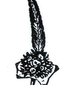 Bouquet mit Feder