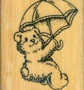 Bär mit Schirm