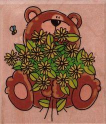 Teddy mit Blumenstrauss