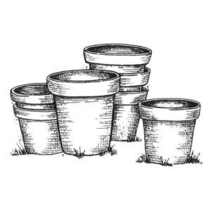 Empty Garden Pots