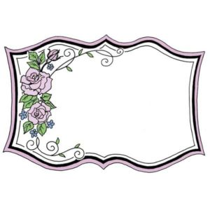 Fancy Rose Frame
