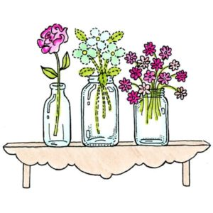Flowers on Shelf