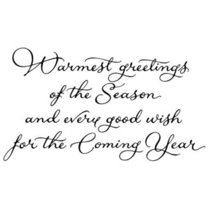 Warmest Greetings