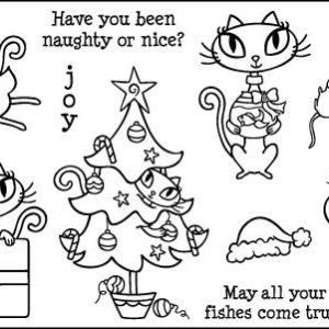 Christmas Kitty Plate 1