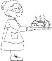 Gran's got hot Chocolate