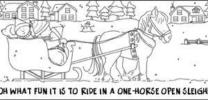 Scene: One-Horse Open Sleigh