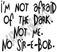 Words: Not afraid of the Dark