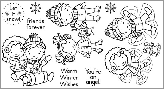 Lily & Billy Winter Stamps