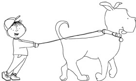 Dudley Dog Takes Patrick for a Walk